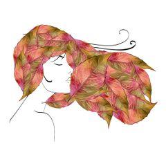 autumn autumnleaves hair autumnhair surreal