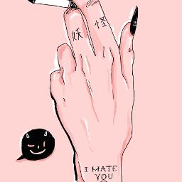 art aesthetic illustration drawing blacknail