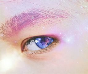freetoedit eye space galaxy human