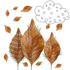 trees leaves autumnleaves stylized autumn