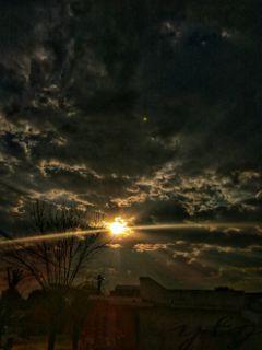 nature sunset storm photography