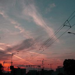 sunrise airplanes building silhouette clouds dpcthecolororange freetoedit