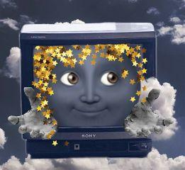 weird strange face tv sky freetoedit