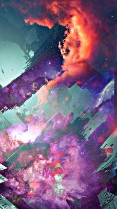 freetoedit nebula galaxy redclouds creative