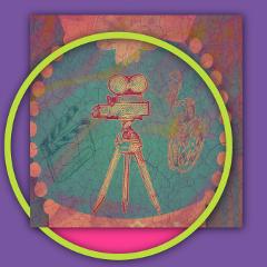 pop retrocam neon film icon freetoedit