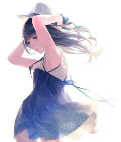 animegirl galaxy colorful emotions serious