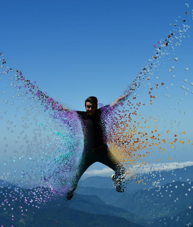 #funremix #man #jump #sky #dispersion #colors #fun 😊🖒