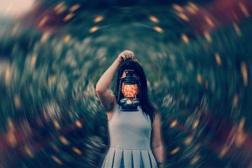 girl embers lantern flying sparks freetoedit