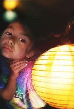 lantern girl portrait nightout lights freetoedit
