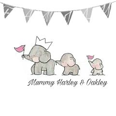 freetoedit. family elephants crown grey freetoedit