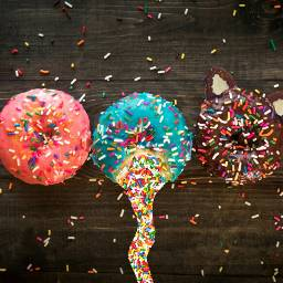donut food dessert donuts donutdelight sprinkles photography foodphotography catears vomiting vomit sprinkle picsart