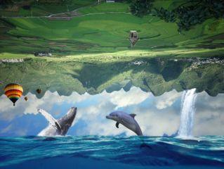 reverse stickers ocean landscape strange freetoedit
