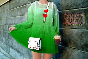 myedit sweet girl dress green freetoedit