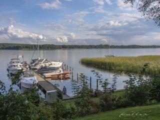 scharmützelsee lake boats sky scharm