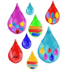drops watercolors watercolorseffect colorful oilpaintingeffect