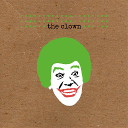 collage cutandpaste composition digitalart edit graphic clown joker hair 70s white red green