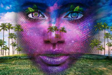freetoedit portrait purple palm