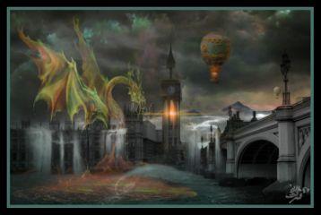 fantasy dragon london myart madewithpicsart