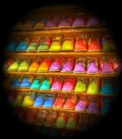 colorful shoes children cute