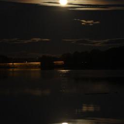 moon water lake reflections