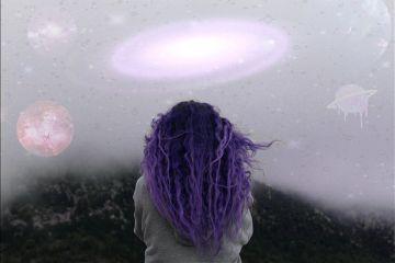 space aliens imagination minds purple freetoedit