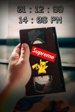 freetoedit dailysticker vhstape pokemon