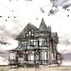 freetoedit architecture house clouds pencilart