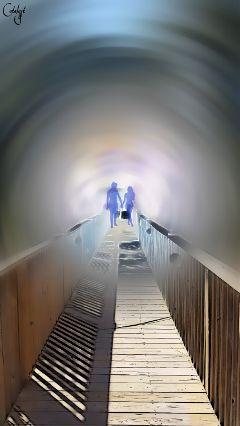 freetoedit bridge walk abstract couple