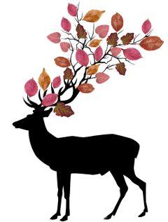 deer autumnleaves horns hipster autumn