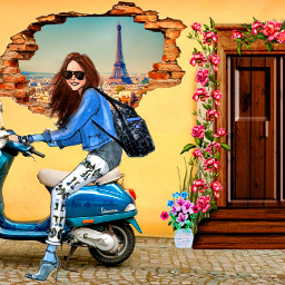 freetoedit dailyremix bike scooter girl