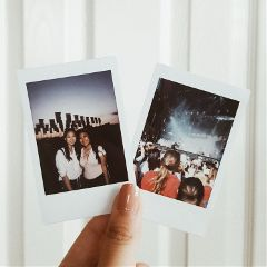 freetoedit acl concert photography polaroid