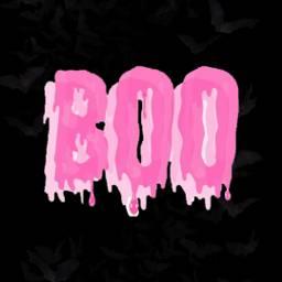 freetoedit boo text pinktext bat