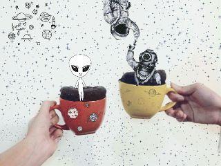 freetoedit alien univers astronaut planet