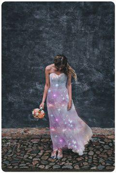 freetoedit galaxy dress rubyremix