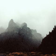 clouds fog snow beautiful mountain freetoedit