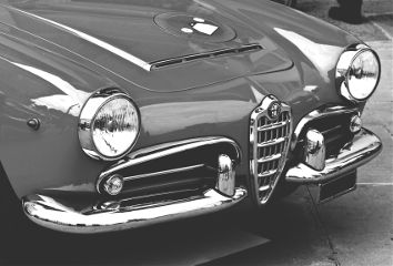 car oldtimer blackandwhite