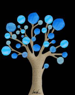 tree blue fantasytree flowers oilpaintingeffect