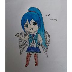 mydrawing drawing oc girl angel