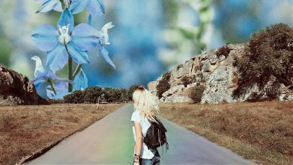 wanderlustremix flower landscape rainbow rainbowlight freetoedit