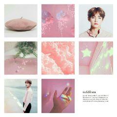 aesthetic pink kpop taetae taehyung freetoedit