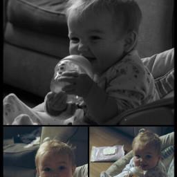 family grandchild collage