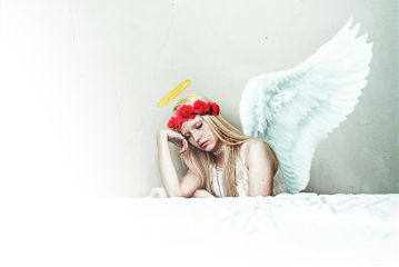freetoedit angel girl white halo