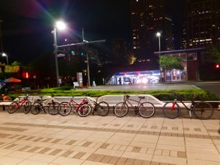 moonlightramble houston downtown bikes bikeride freetoedit