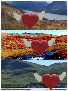 freetoedit greenland collage hearts