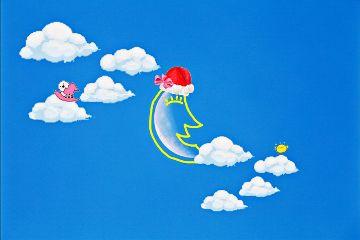 freetoedit sky blue moon christmas