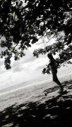 silhouette woman sunnyday sea takeapic freetoedit