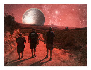 friends walk rioja mars red