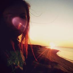 freetoedit beach summer redhead girl