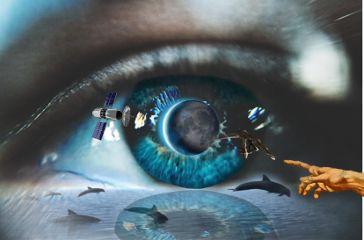 freetoedit eyeart dolphins alien moon