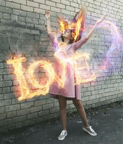 freetoedit remixed flames fire love